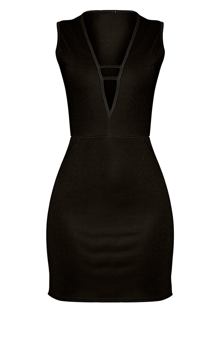Arya Black Sleeveless Strap Detail Mini Dress 3