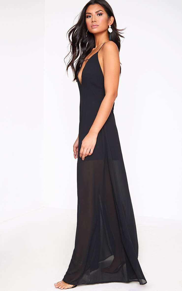 Black Knot Back Maxi Dress 4