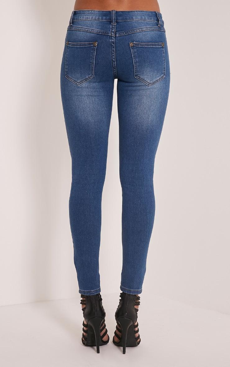 Mid Wash Slim Leg Jeans 6