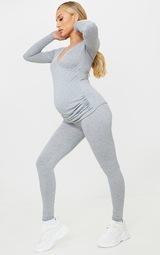 Maternity Grey Jersey Leggings 1