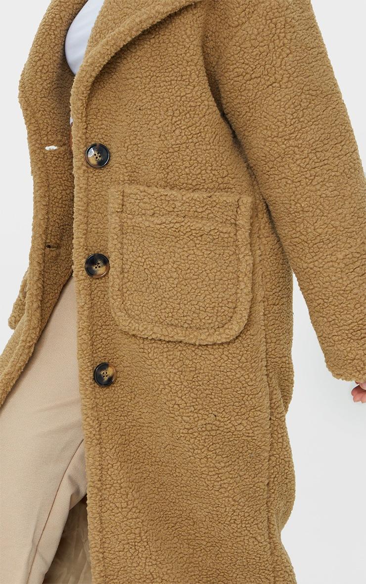 Petite Camel Maxi Borg Coat 4