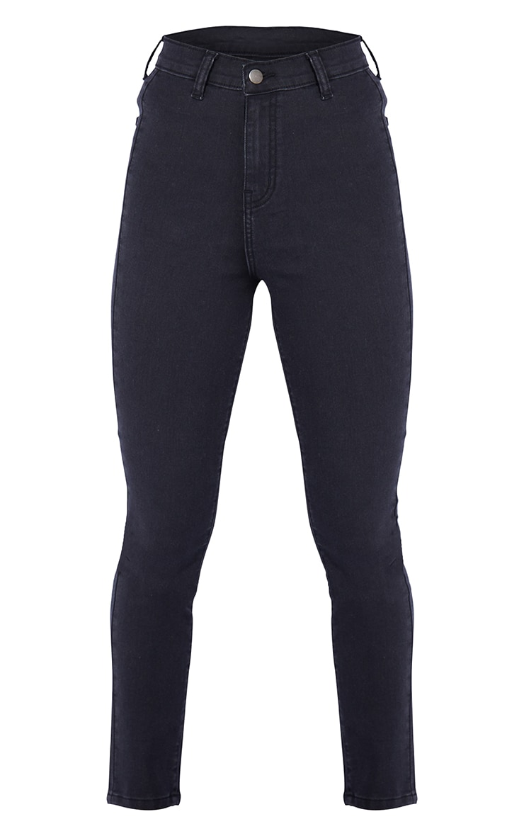 Petite Washed Black Disco Fit Skinny Jeans 5