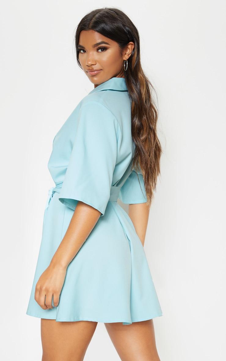 Baby Blue Tie Tea Dress 2