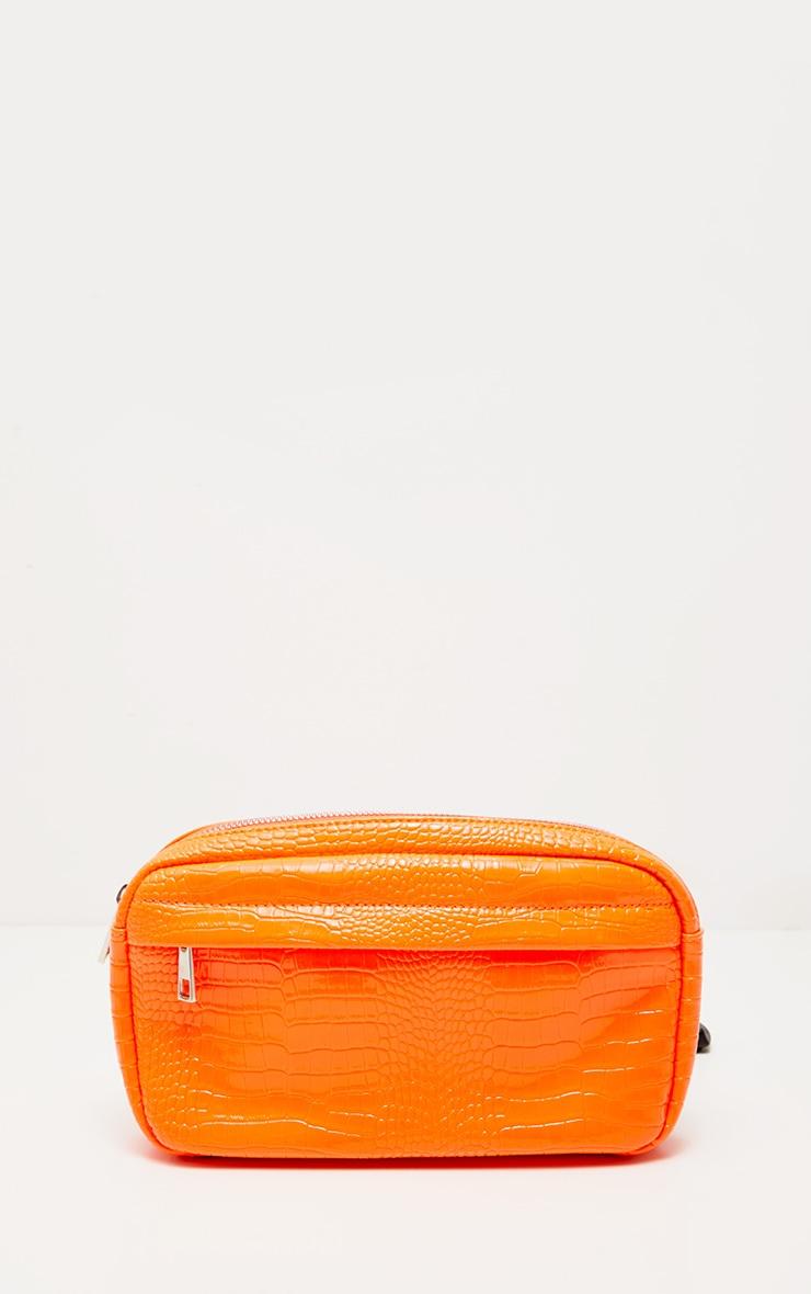 Orange Croc Patent Long Bum Bag 2