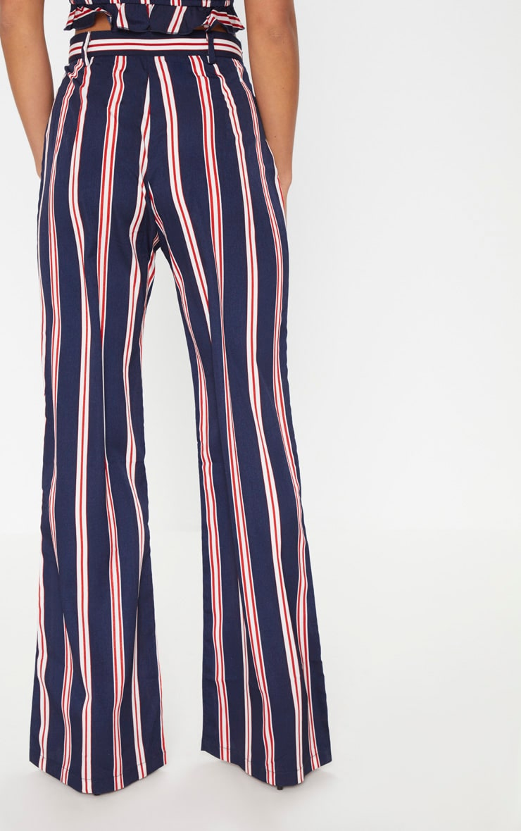 Petite Navy Stripe Wide Leg Pants 3
