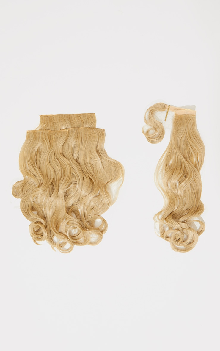 Lullabellz Ultimate Half Up Half Down 22 Curly Extension and Pony Set California Blonde 5