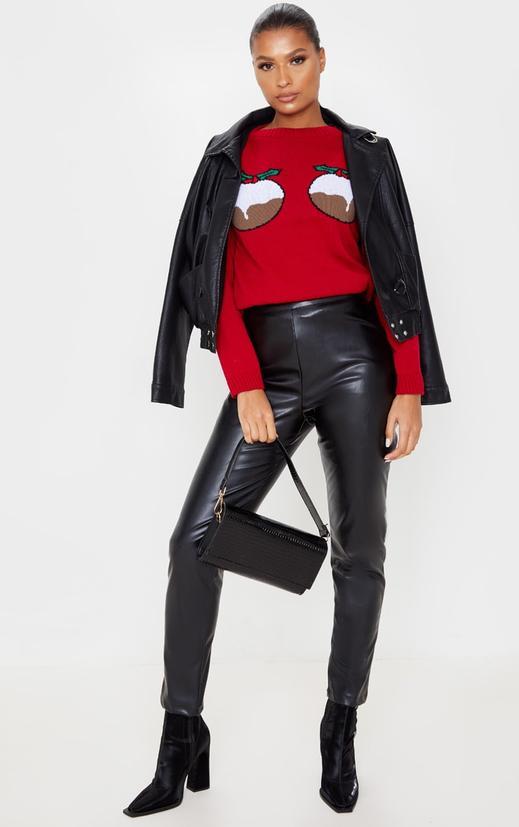 Red Christmas Pudding Jumper 3