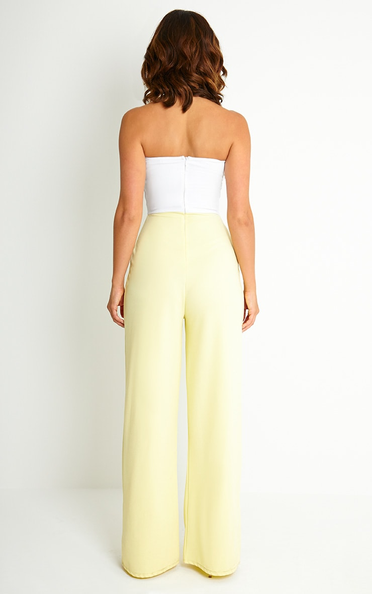 Kendra Two Tone Crepe Jumpsuit 2