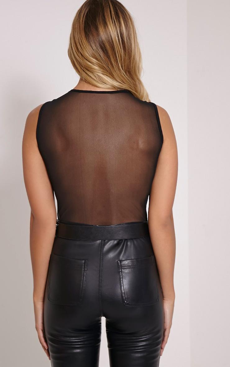 Pippa Black Mesh Applique Bodysuit 2