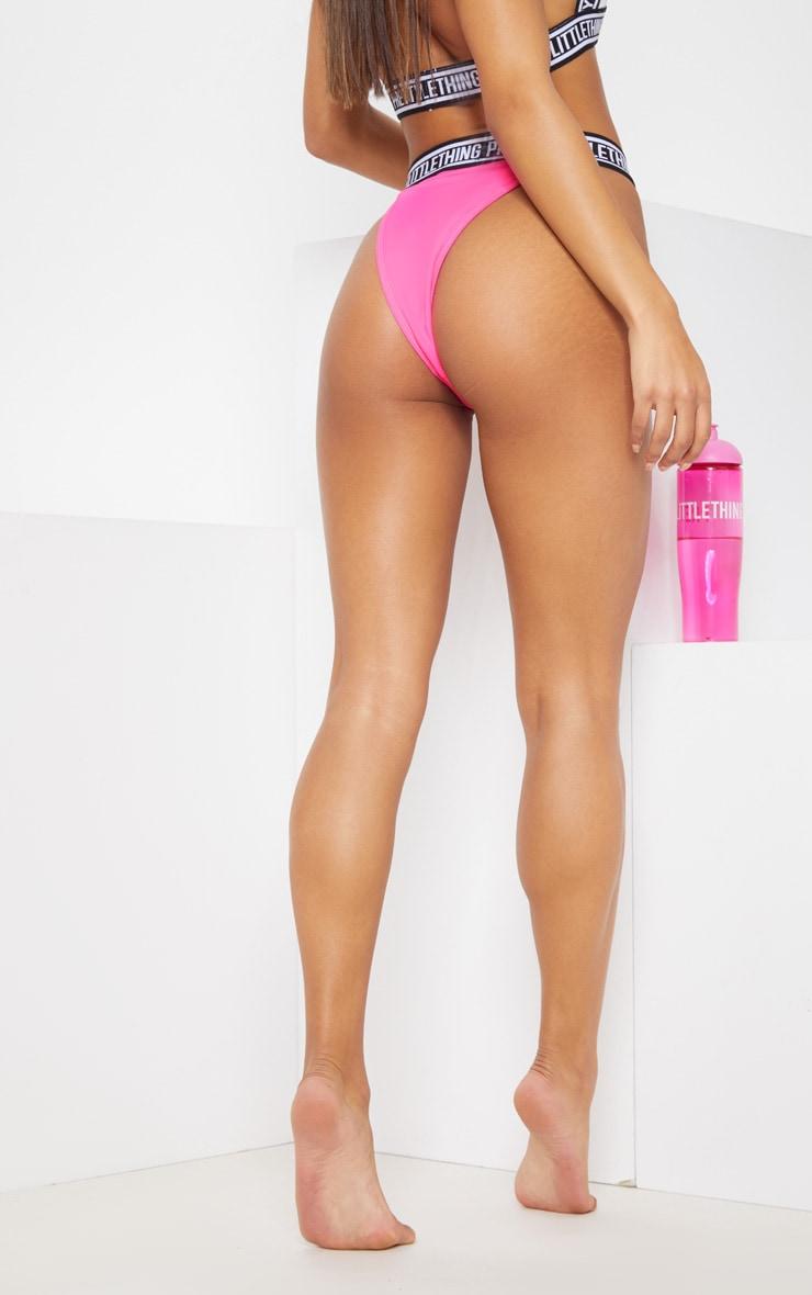 PRETTYLITTLETHING Bright Pink High Leg Bikini 5