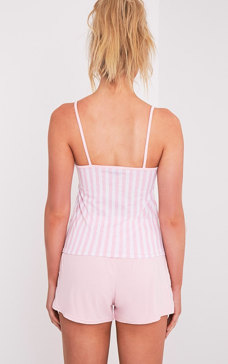Nicoh Baby Pink Candy Stripe Pyjama Short Set 2