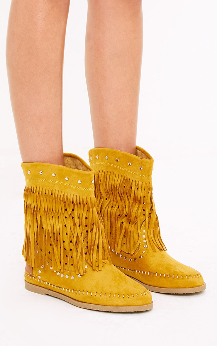 Rosanne Tan Fringed Boots 3