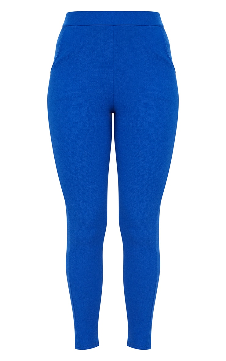 Blue Crepe Skinny Trousers 3