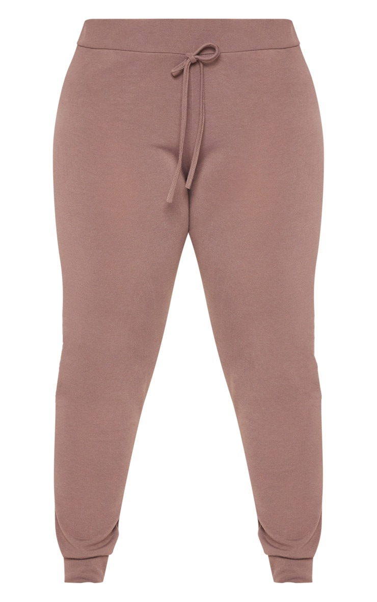 Plus Chocolate Knitted Joggers 3