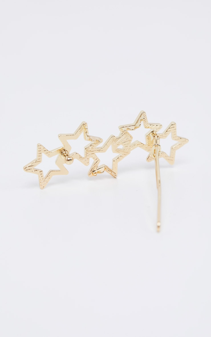 Gold Stars Hair Slide 3