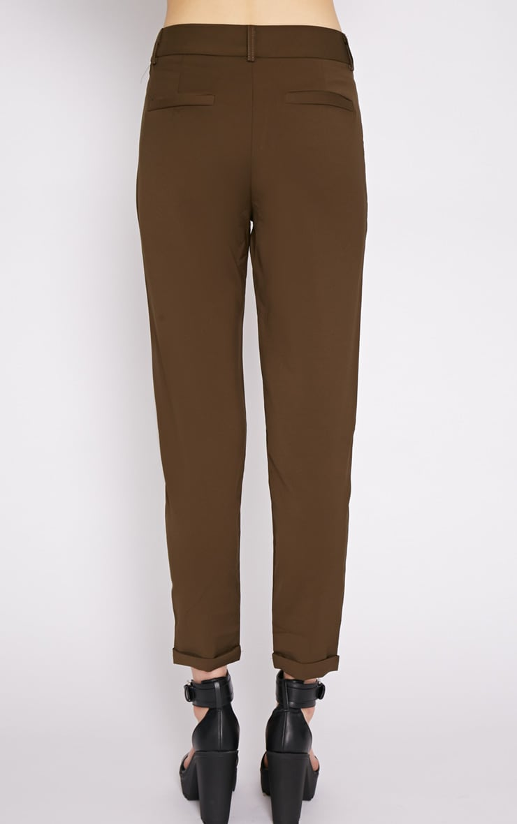 Christen Khaki Cigarette Trouser  2