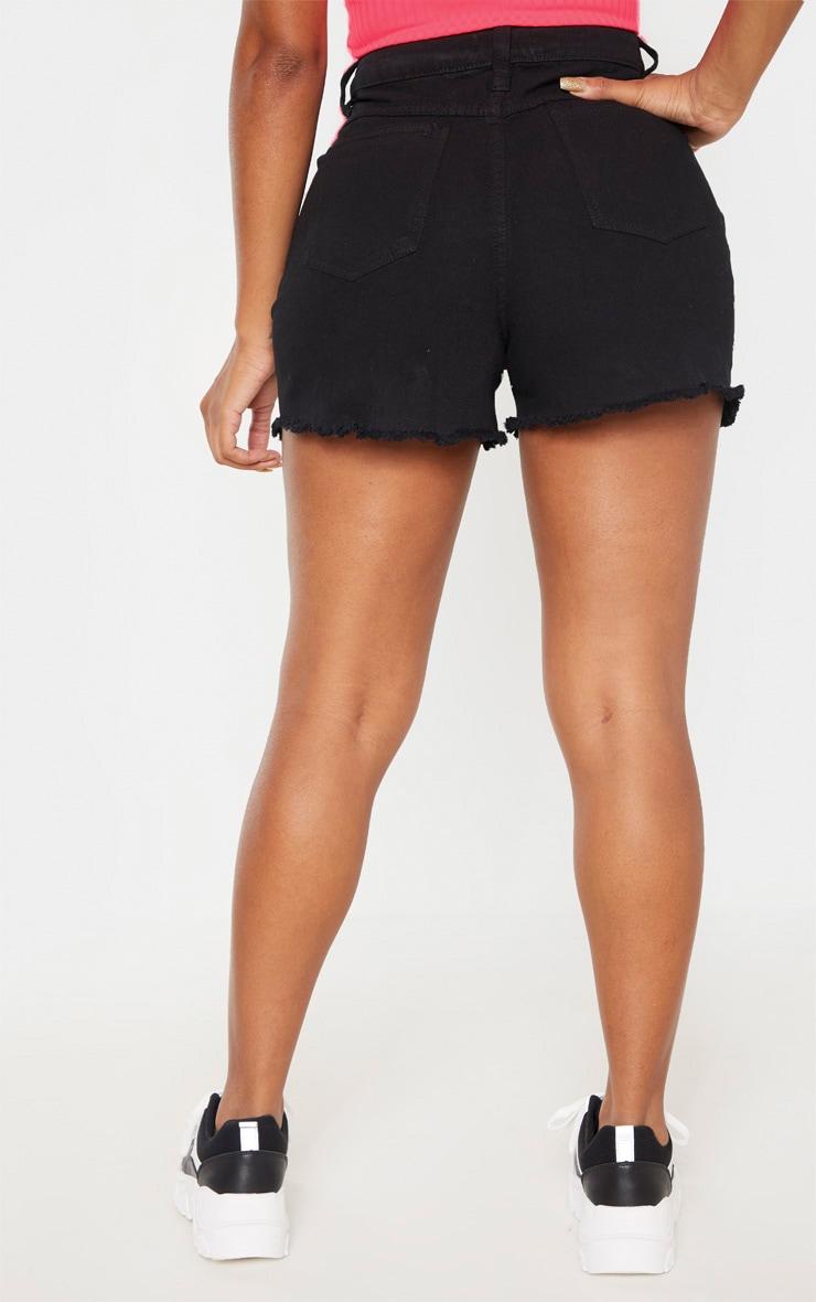 Shape - Short mom taille haute en jean noir  4