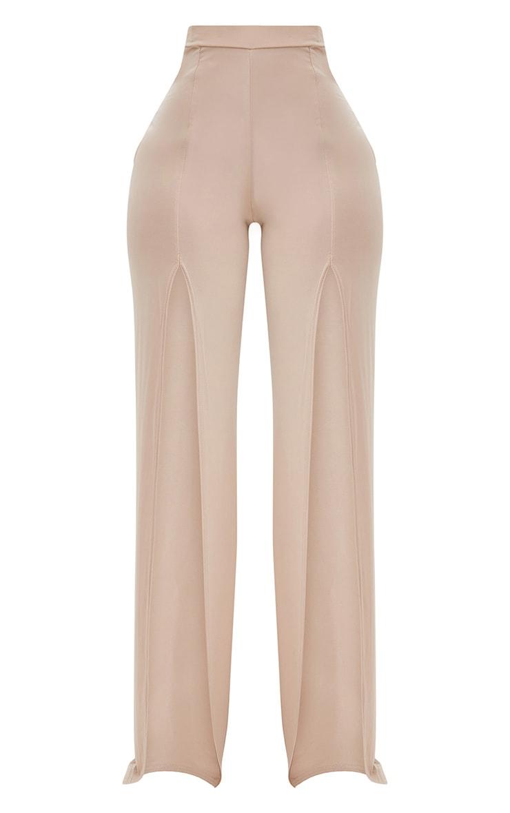 Shape Stone Slinky Split Front Wide Leg Trousers 3
