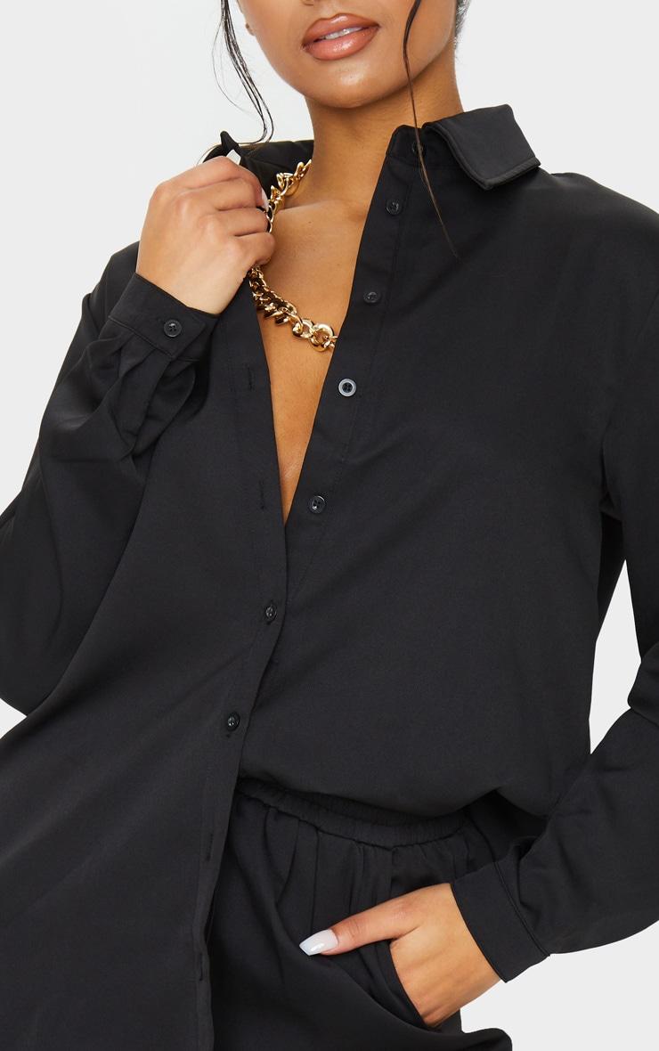 Black Oversized Long Sleeve Shirt 4