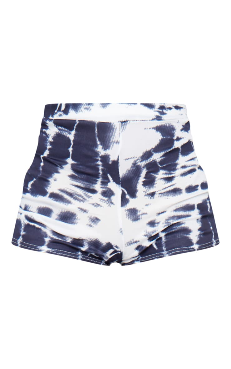 Navy Tie Dye Jersey High Waisted Hot Pants 6