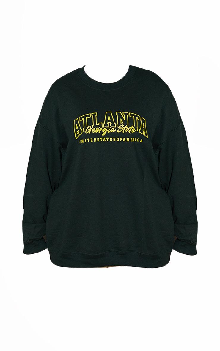 Plus Green  Atlanta Slogan SweatShirt 5