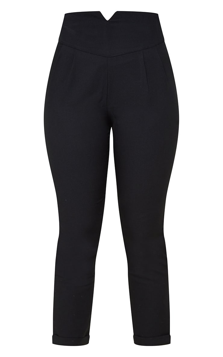 Petite Black High Waisted Tapered Pants 5