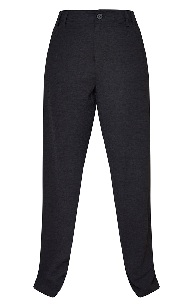 Petite Black High Waisted Pocket Detail Trousers 5