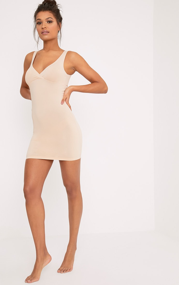 Smoothing Nude Invisible Shaping Plunge Slip 4