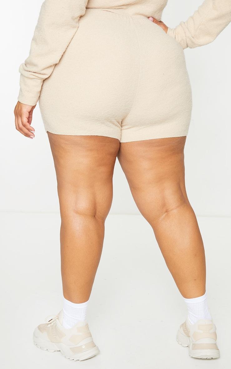 Plus Stone Fluffy Shorts 3