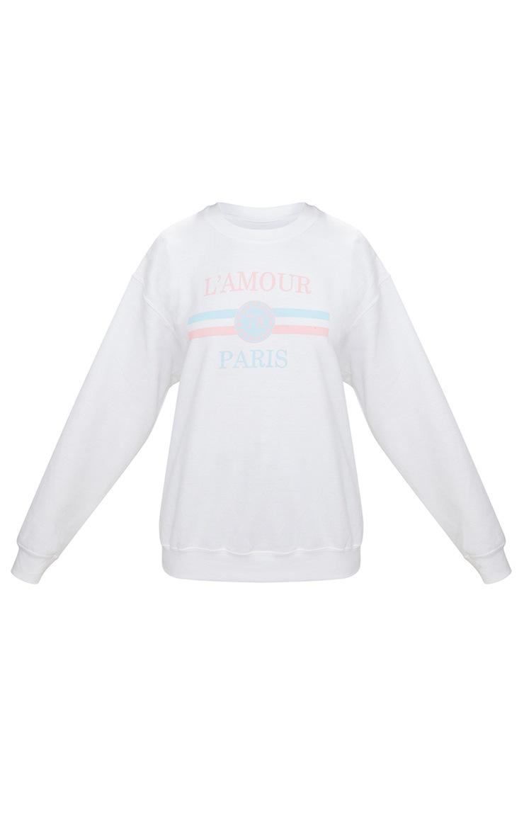 White Lamour Slogan Sweater 3