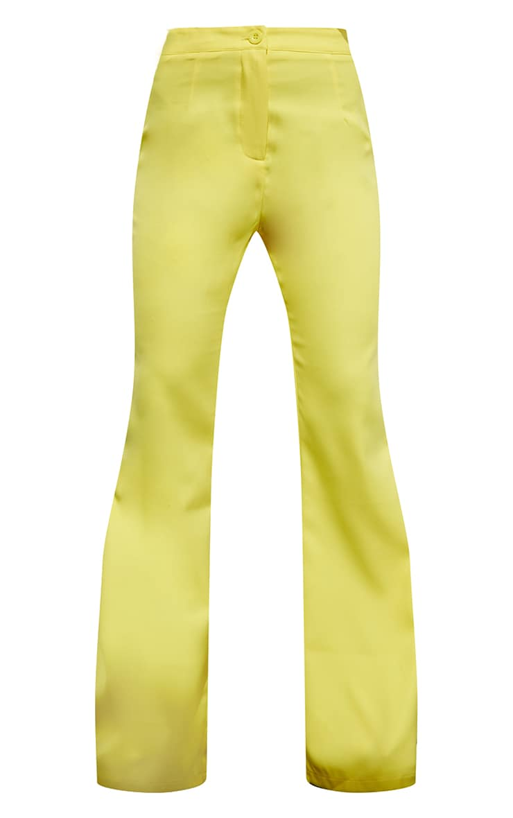 Yellow Woven Flared Trousers 5