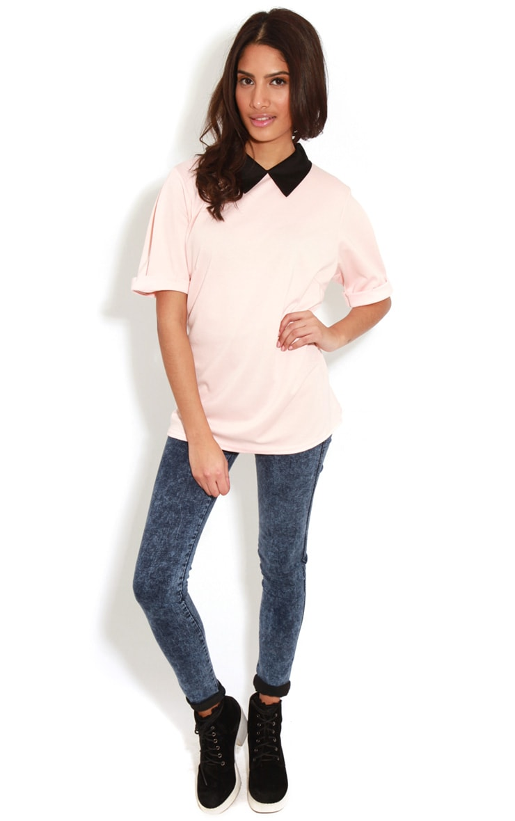 Albany Peach Collar Top 3