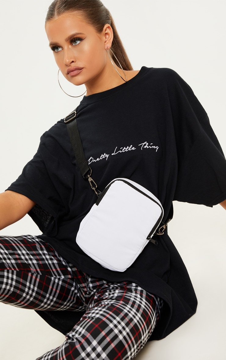 White Sporty Pouch Bag