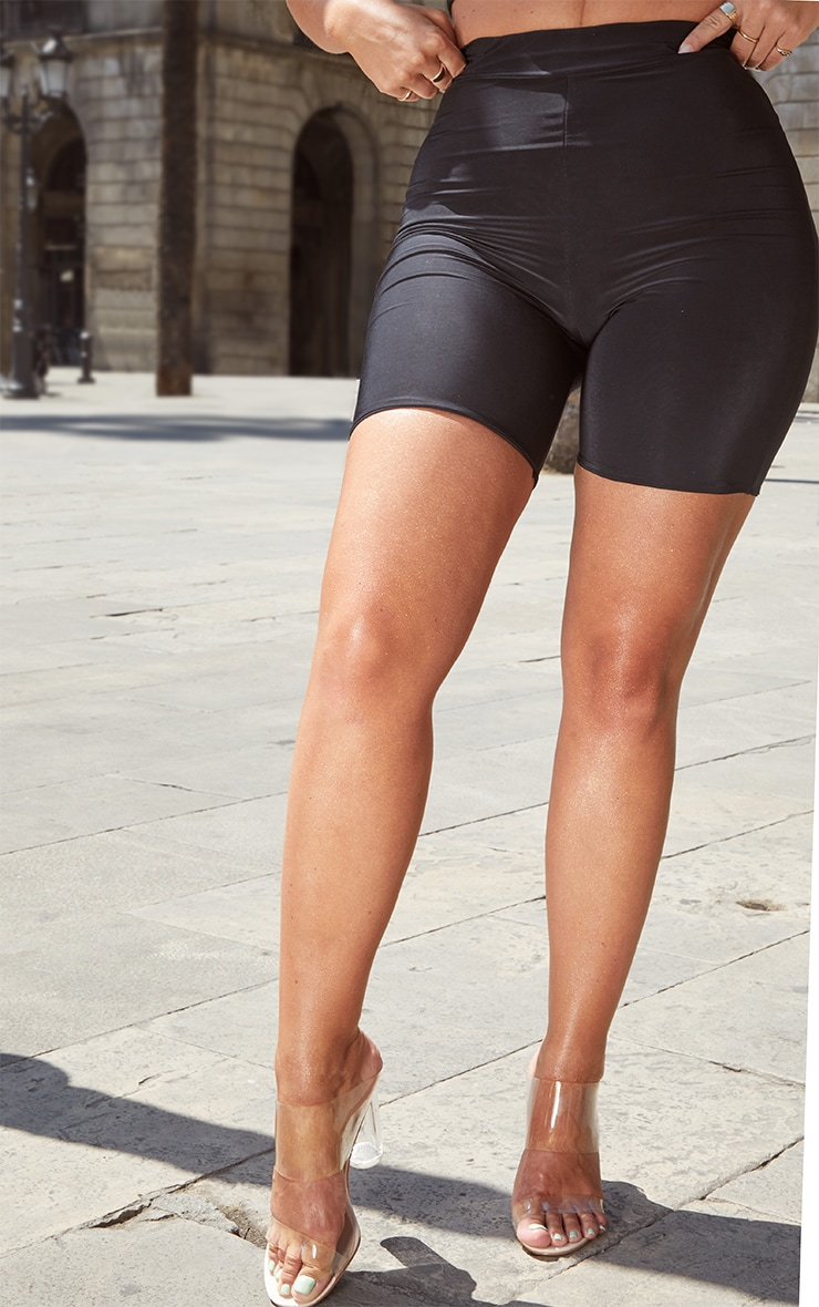 Petite Black High Waist Cycling Shorts 2