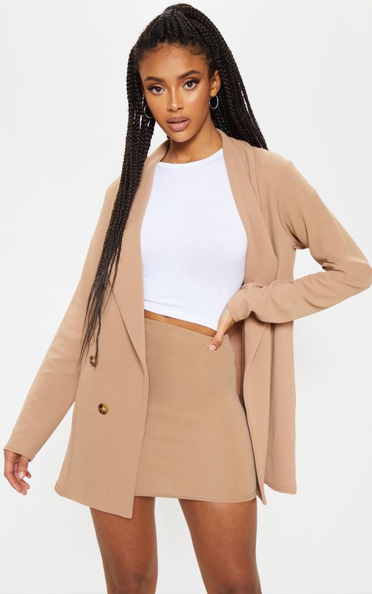Camel Mini Suit Skirt  1