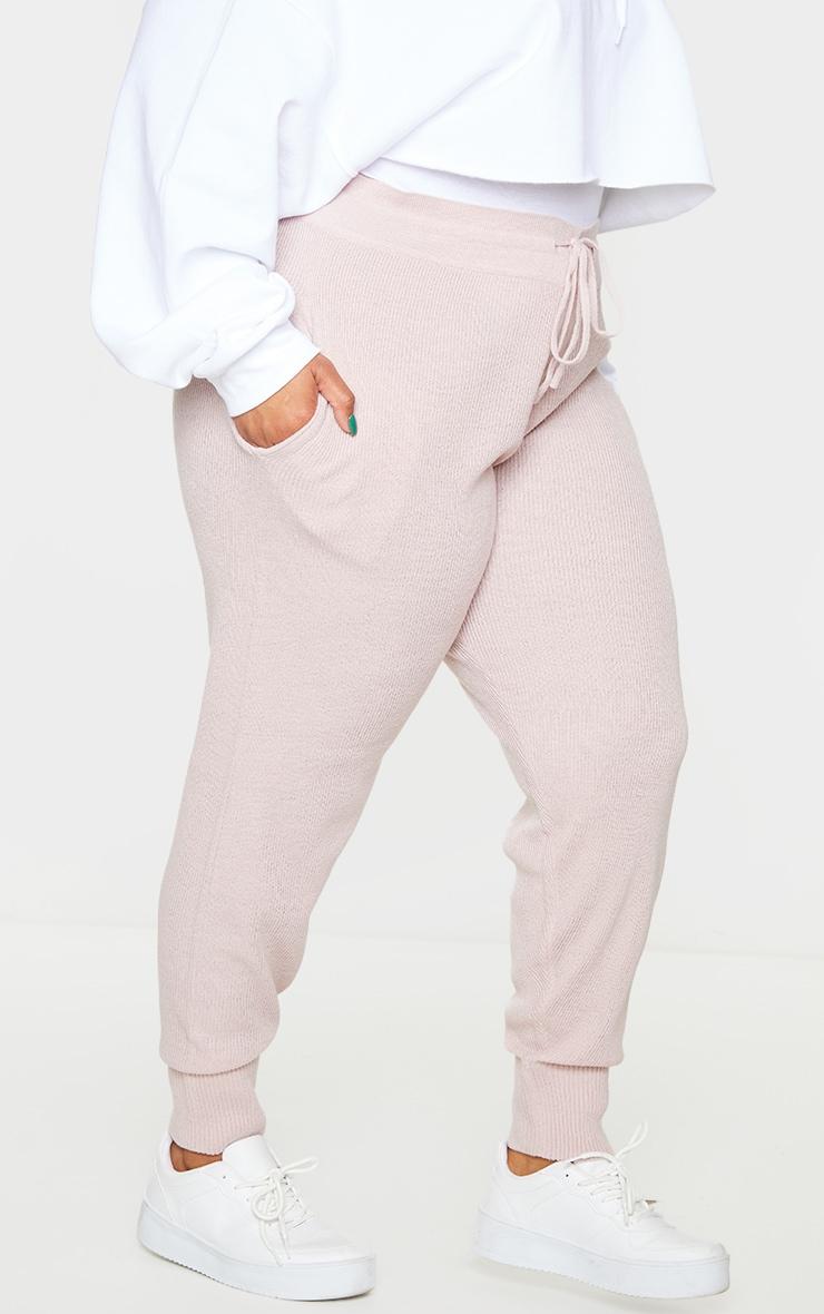 Plus Blush Knit Joggers 2