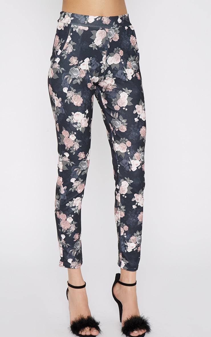 Navarro Navy Floral Trouser 3