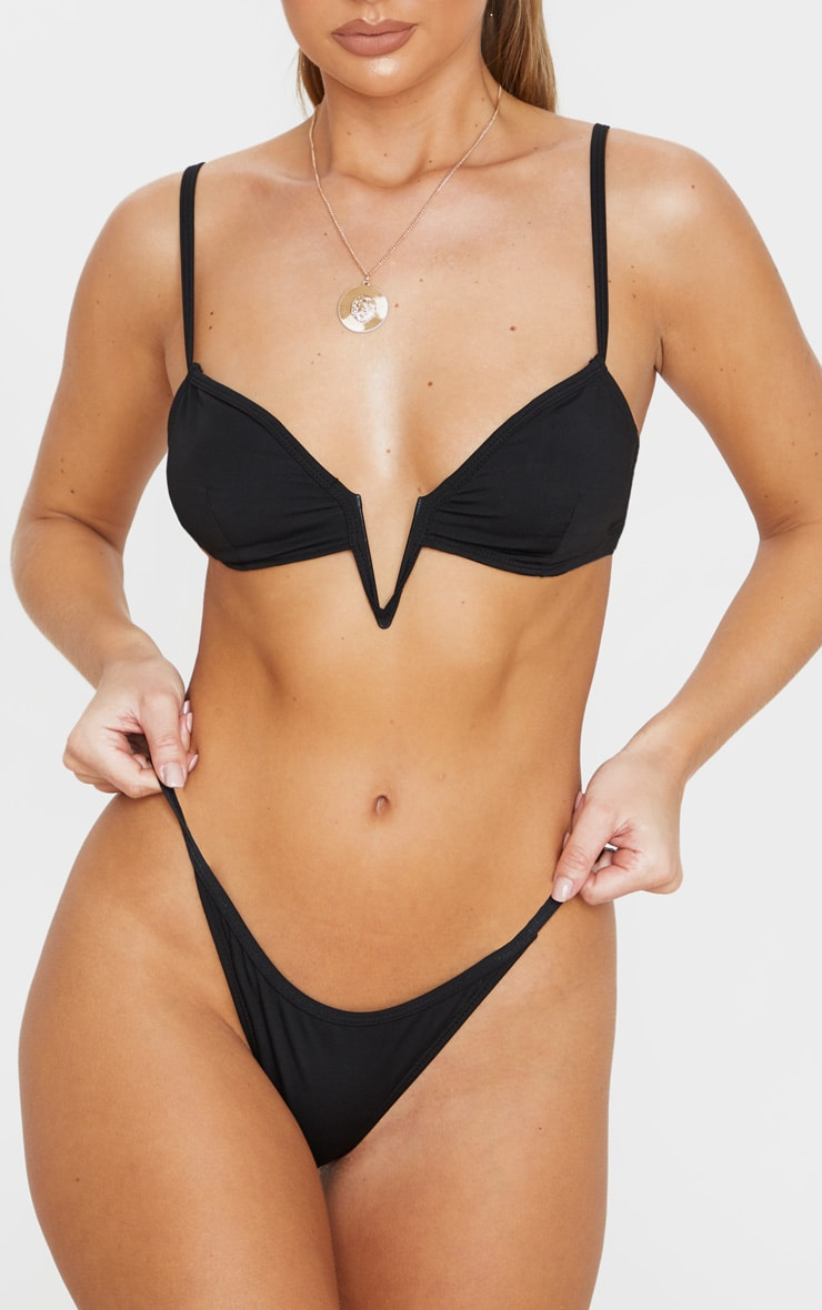 Black Mini Bikini Bottoms 1