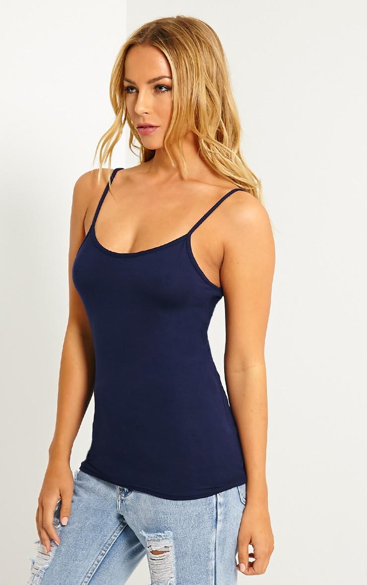 Basic Navy Jersey Vest Top 4
