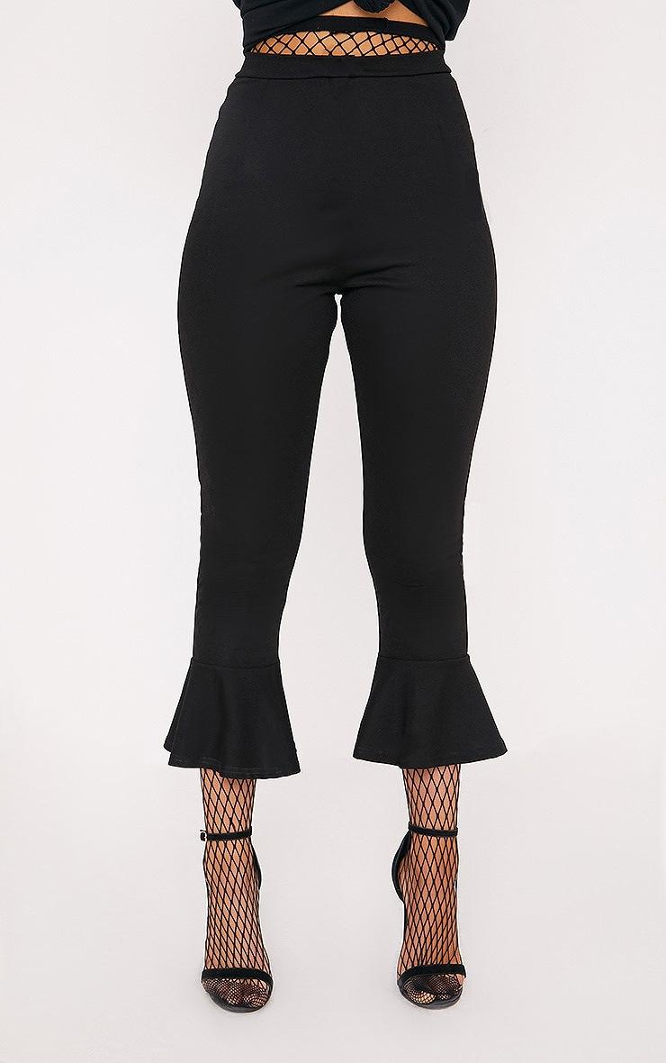 Black Flare Hem Trouser 2