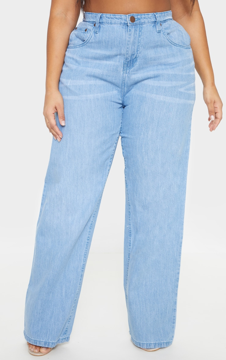 Plus Light Wash Extreme Wide Leg Jean 2