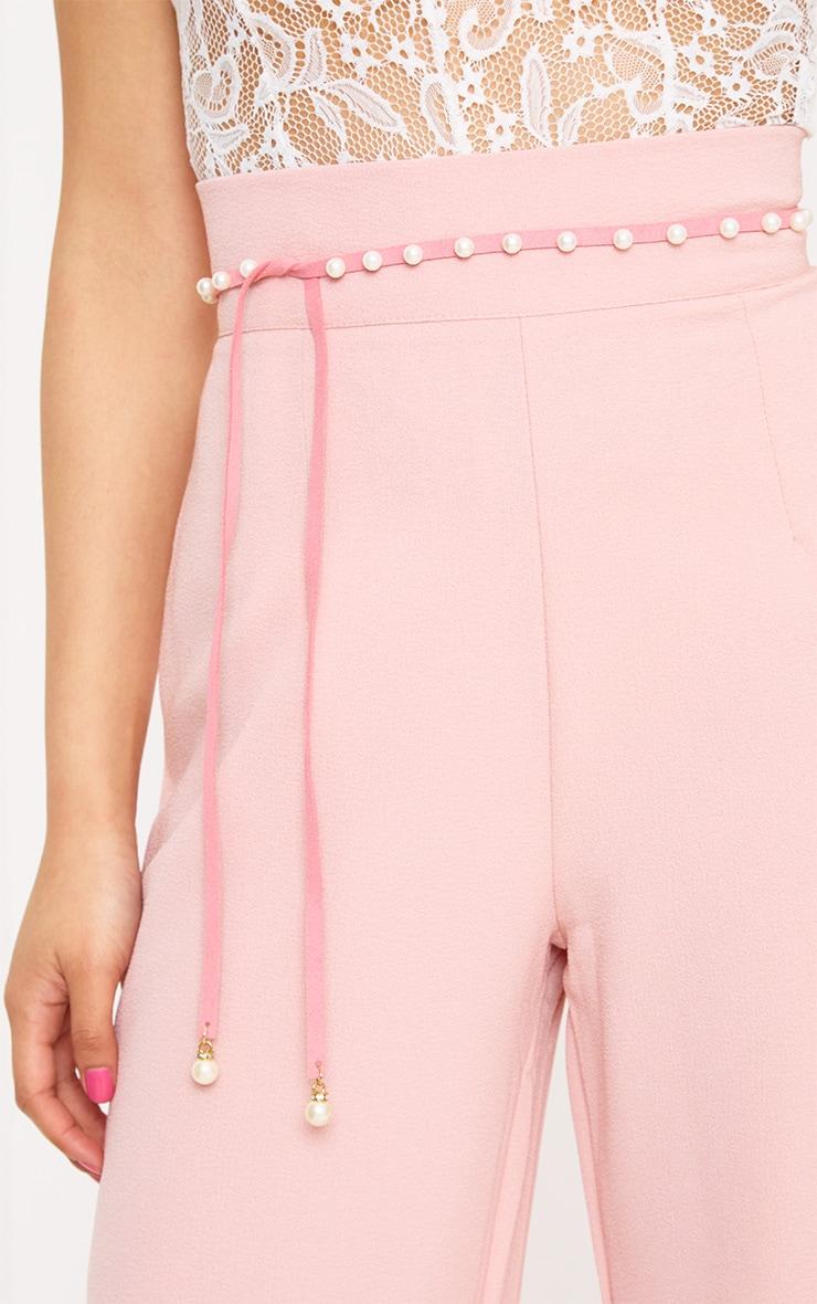 Pink Pearl Wrap Belt 1