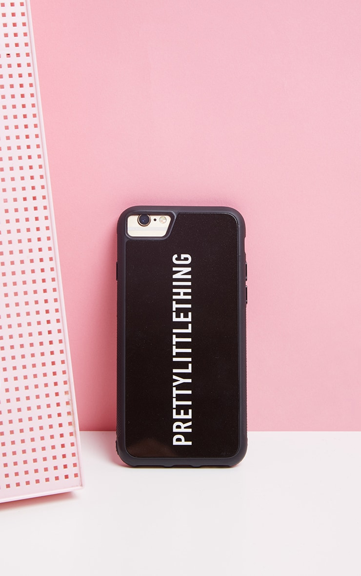 PRETTYLITTLETHING Black Logo iPhone Case 8 1