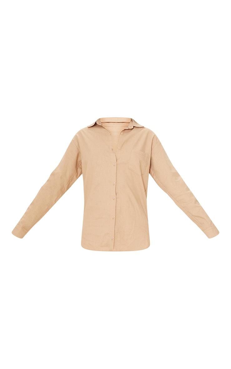Tall Stone Linen Look Pocket Detail Shirt 5