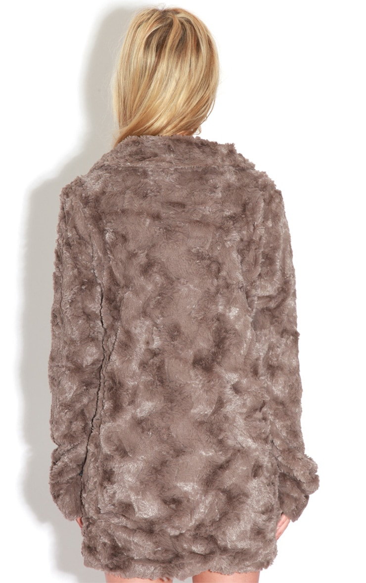 Rani Mocha Faux Fur Coat 2