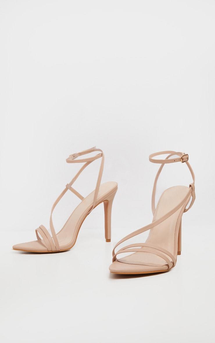 Nude Asymmetric Strappy Sandal 2