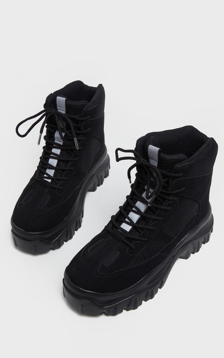 Black Flatform Chunky Sneakers 3