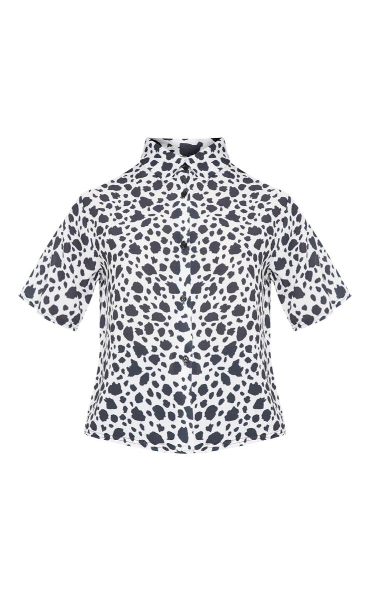 Black Dalmatian Print Shirt 3