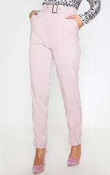 Dusty Pink Belted Tailored Trousers 3