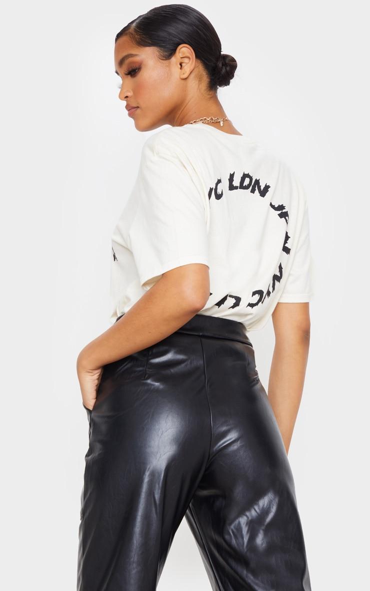 Black Pocket Detail Faux Leather Straight Leg Pants 5